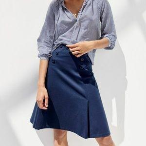 J Crew Sailor Skirt Size 6 NWOT Navy